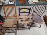 (3) Antique Chairs