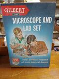 Child's Vintage Gilbert Microscope Lab Set