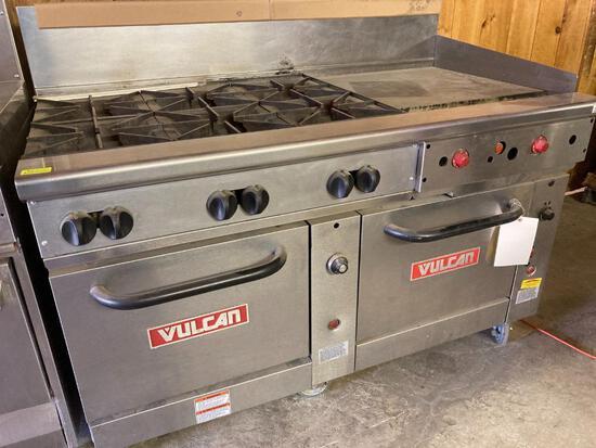 """Vulcan 60"""" Double-Oven 6-Burner Range w/ Griddle"""