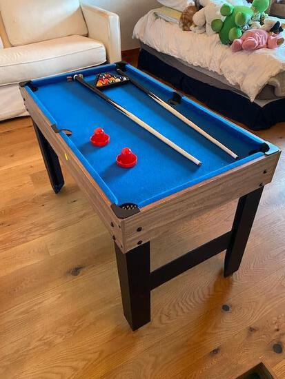 Lancaster Gaming Company Model CBF048_017P Kid's Sized Pool Table / Foosball / Air Hockey Unit
