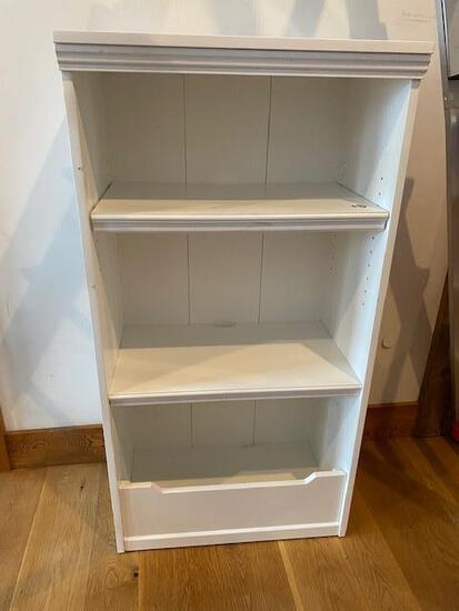 White Painted Wood Shelf Unit