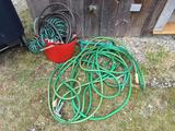 Lot of Garden Hoses & Tote