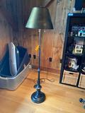 Heavy Patinated Metal Adjustable Height Standing Lamp