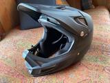 Fox Rampage-Pro Carbon Mountain Biking Helmet & Smith Goggles