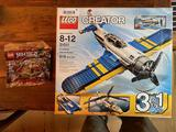 (2) Lego Sets: 31011 Aviation Adventures & 30425 Ninjago