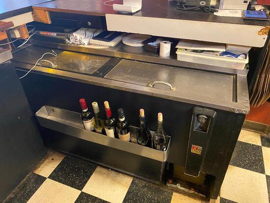 "True 63"" Solid Slide Flat Top Refrigerated Horizontal Bottle Cooler"