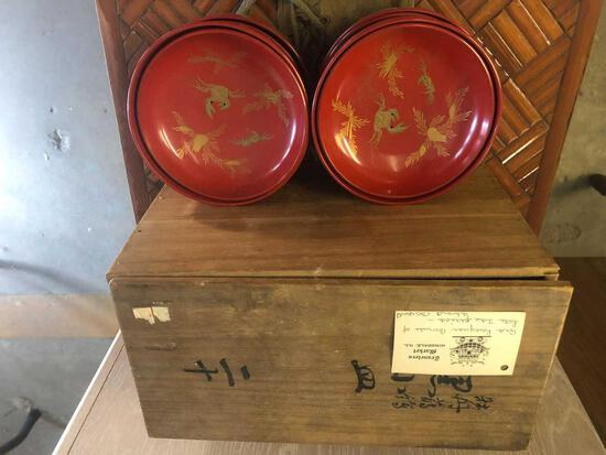 Japanese Lacquer Boxed Set
