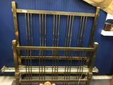 Arts and Crafts Style Double Brass Bed