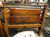 Turned Hardwood 19th C Full Size Bed