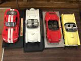 (4) 18th Scale Diecast Cars, Viper, Thunderbirds, Porsche