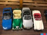 (4) 1/18th Scale Sports Cars, Mercedes, Corvette