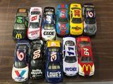 (11) Nascar 1/24 Scale Diecast Cars