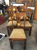 Set of (5) Oak Dining Chairs