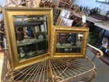(2) Gilt Framed Beveled Mirrors