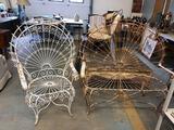 2-Piece Antique Suite of Decorative Wire Furniture