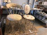 (2) Iron Chairs