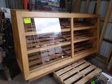 Oak 3-Shelf Bakery Display Case