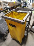 Rubbermaid Poly Janitor Cart w/ Laundry Bag