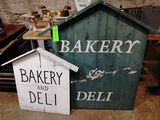 (2) Painted Wood Bakery & Deli Signs