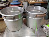 (2) Aluminum 20 Quart Stock Pots