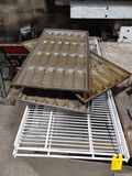 (3) Bun Proofing Trays & (2) Pc. Coated Wire Shelving