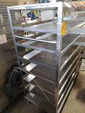 SS Rolling Shelf Unit