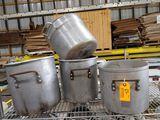 (4) Asst. Aluminum Stock Pots