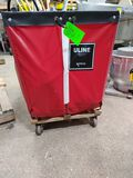 Uline Rolling Poly Laundry Cart