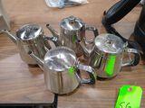 (4) SS Tea Pots