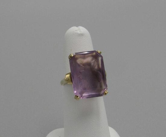 Amethyst Intaglio Ring