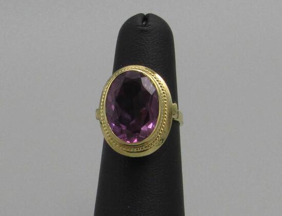 Oval Cut Amethyst Ring