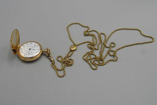 14K Yellow Gold Elgin Pocket Watch