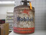 Mobil Oil 5 Gallon Can