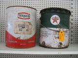 (2) Collectible Texaco 5 Gallon Cans
