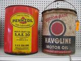 (2) Collectible 5 Gallon Cans