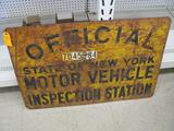 Double Sided Vintage Steel Sign