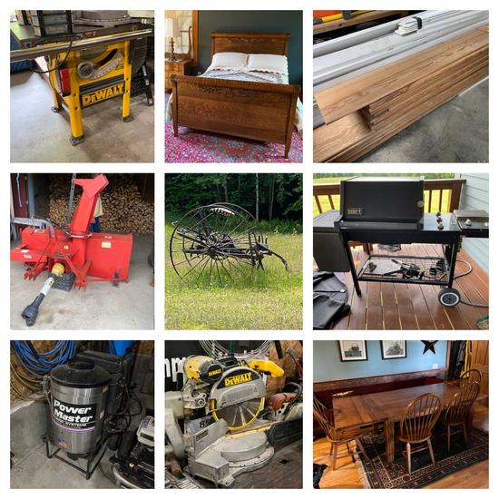 (1316) Kubota Tractor, Power Tools & Equipment