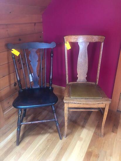 (2) Wood Chairs