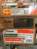 (3) Boxes of Paslode Nails