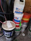 Asst. Pails of Adhesives & Stain blocker