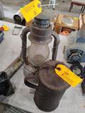 Antique Kerosene Lamp & Covered Pitcher