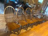 (6) Hardwood Bow back Dining Room Chairs