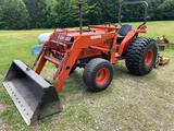 Kubota L3650 Tractor w/ L650A Loader & Tire Chains