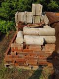 (400+/-) Bricks, (9) Cement Blocks