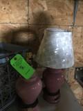 (2) Porcelain Lamps