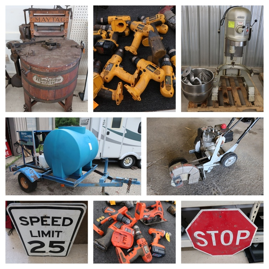 (1339) Tools, Equip., Signage, Automotive & Househ