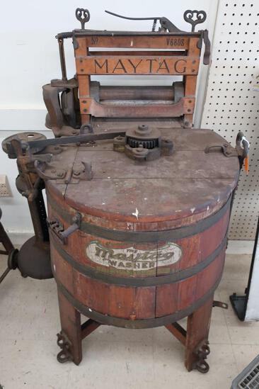 Vintage Maytag No. V680S Wood Tub Washer