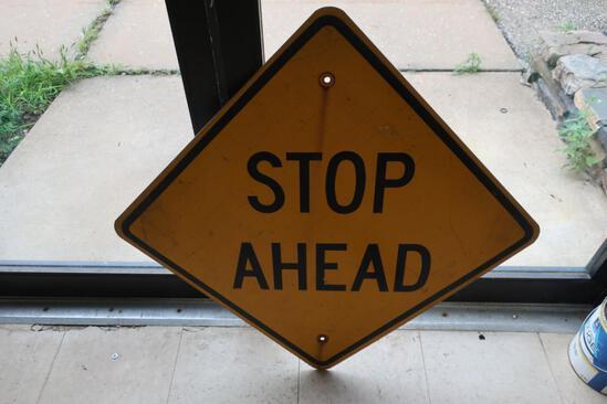 "Aluminum ""STOP AHEAD"" Sign"