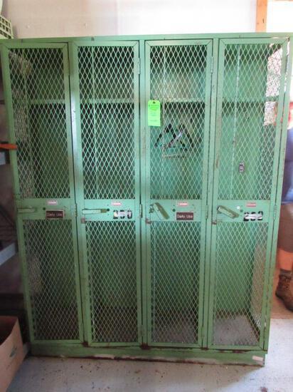 4-Door Pressed Metal Locker/Cabinet