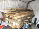 12 pc of 9 1/4 live edge pine approx 100